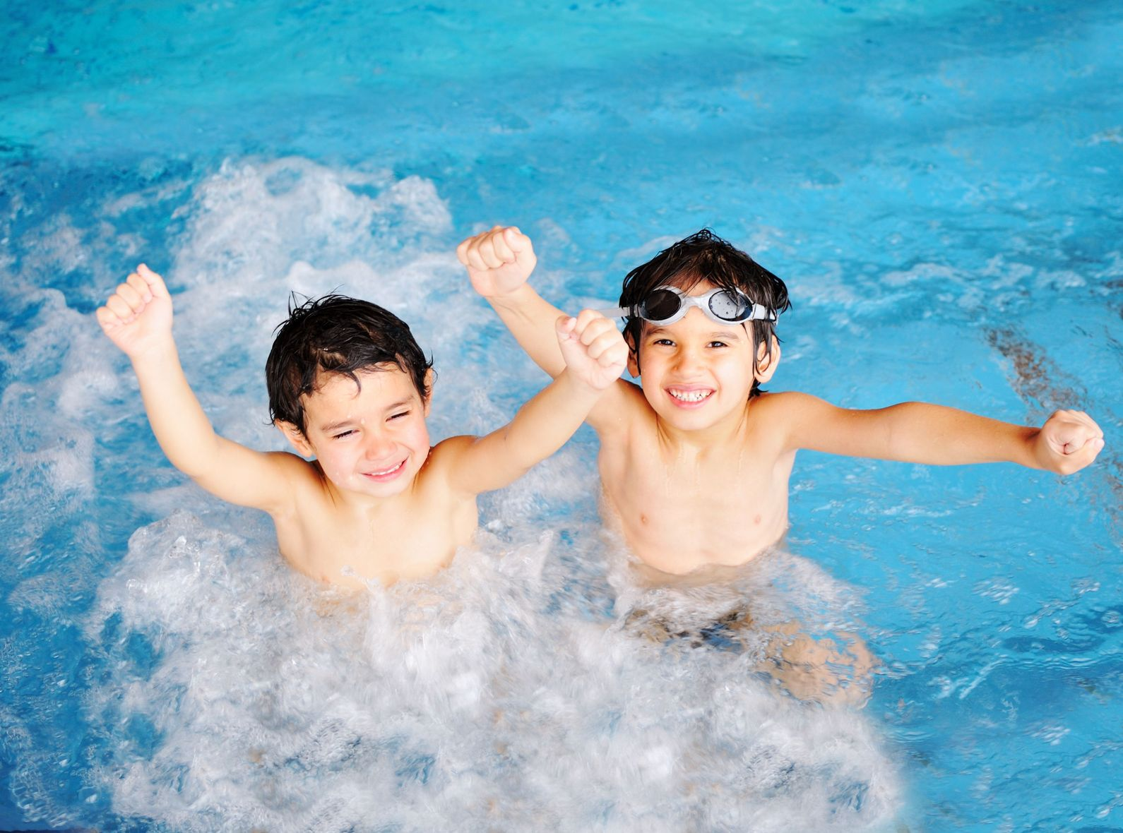 6759183 - children at pool, happiness and joy